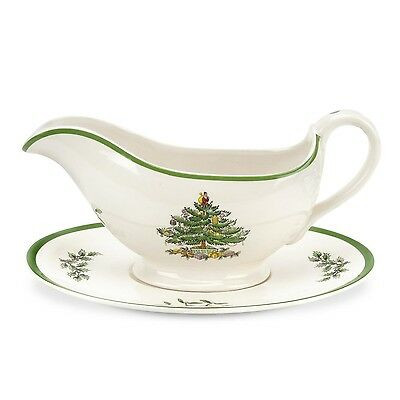 Spode Christmas Tree Sauce Boat And Stand • 22.50£
