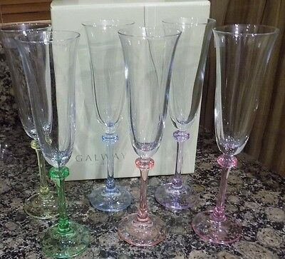 Galway Irish Crystal Liberty Party Pack Flutes Prosecco Glasses  • 35£