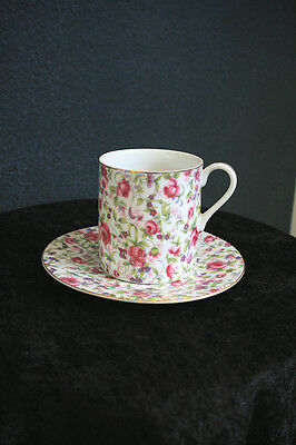 Bone China Chintz Pink Roses Cup And Saucer JAPAN • 21.24£