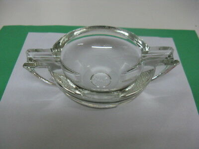 Art Deco Style PARKER (Chance Glass) Ashtray - Clear Glass -Robert Gooden - VGC • 32.50£