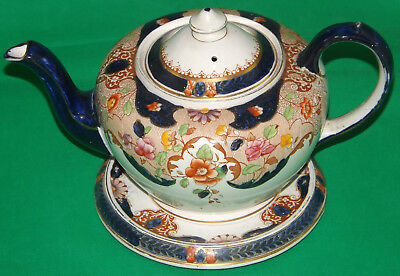 S Hancock & Sons Corona Ware Teapot & Stand Beatrice Pattern Stoke On Trent • 19.25£