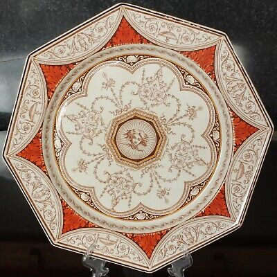 Minton Octagonal HOLLAND Pattern Plate With Aesthetic Design Dated 1882 • 65£