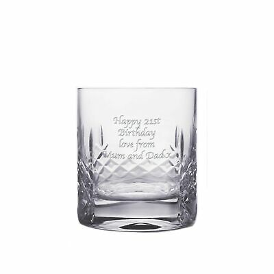 Cut Crystal Whisky Tumbler With Personalised Messages • 29.49£