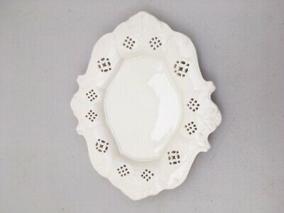 Nice Leedsware Oval Decorated Creamware Table Plate Of Lovely Design • 22.50£