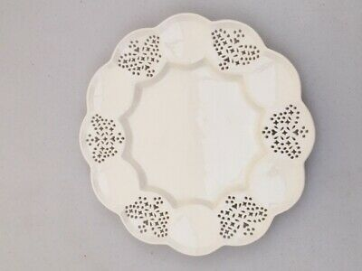 Lovely Leedsware Creamware Circular Table Plate With Six Butterfly Piercings  • 24.99£