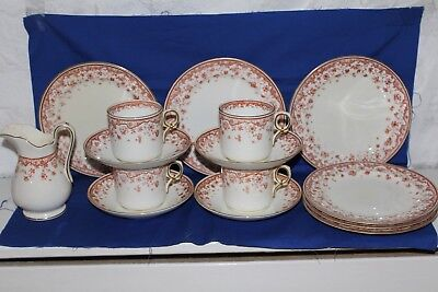 George Jones - Four Coffee Cans, Four Saucers, Six Side Plates & Creamer • 10£