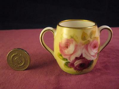 Stunning George Jones Crescent China  Miniature Loving Cup  Roses Hand Painted • 44.99£