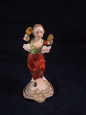 Lovely Vintage  Spode  Figurine Girl Playing Cymbal • 31.49£