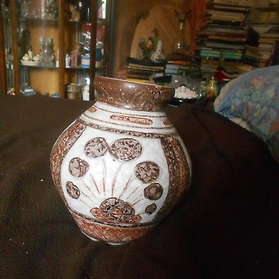 Cracking Italian Pottery Vase(nibble To Top Rim) • 12£