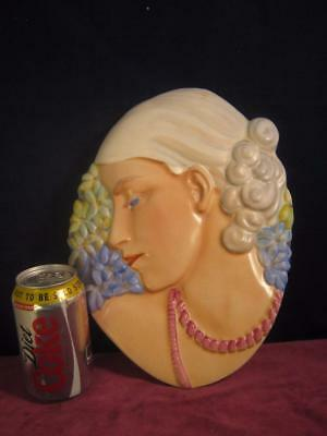Rare  Beswick Art Deco Lady With Beads /  Hyacinth Lady Wall Hanging / Plaque • 185.99£
