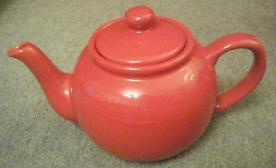 Vintage Red Pottery Teapot 5 Cups  • 9£