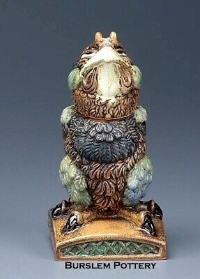 Burslem Pottery Grotesque Bird Charlie Sparrow Inspired By Martin Brothers • 149£