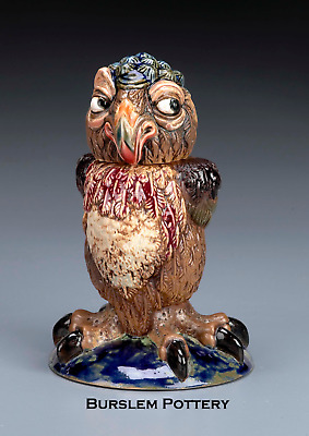 Burslem Pottery Stoneware Grotesque Bird Rosie  Inspired By Martin Brothers • 189£