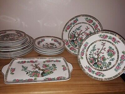Maddock Pottery Part Dinner Set Indian Tree 21 Pieces • 49£