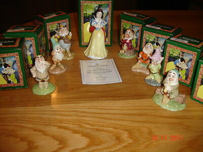 Royal Doulton  Limited Edition  Snow White And The Seven Dwarfs   Bnib  England • 399.99£