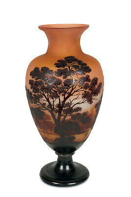 Authentic  Emile Galle' Vase. Decorated With Trees. End 1800. • 2,366£