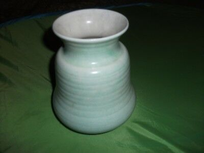 George Clews Vintage Vase-pale Green-outside Exc Cond-inside Is Age Worn-lovely • 12.99£