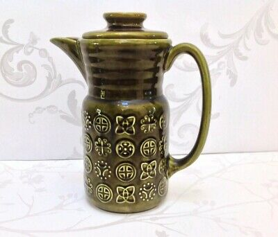 Lord Nelson Pottery Moss Green Coffee Pot • 15.99£