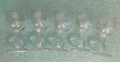 5 Flawless Signed Baccarat 4  Brandy? Wine? Crystal Glasses Made In France • 100£
