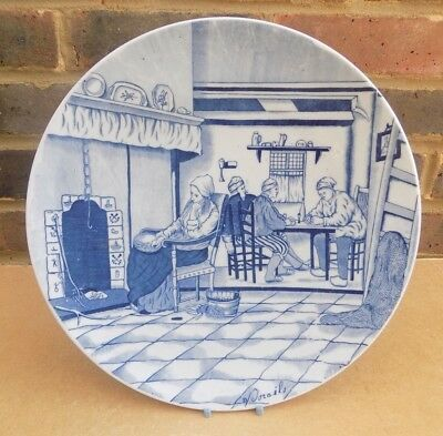 Vintage / Antqiue DELFT (Unmarked) Charger Plate - Signed • 14.99£