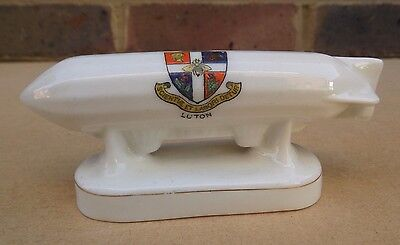 ARCADIAN Crested China Zeppelin - Luton • 29.99£