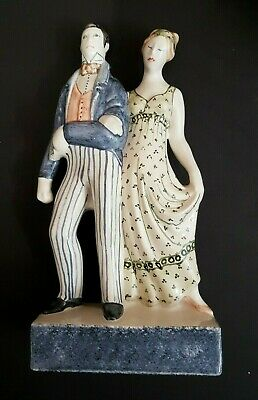 Rye Pottery Figurine  Regency Love  From The Lovers Collection - 27 Cm Tall • 60£