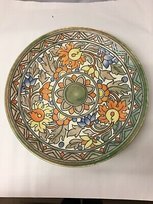 1930's Art Deco Signed Charlotte Rhead Crown Ducal Pottery Wall Charger 5983 • 125£