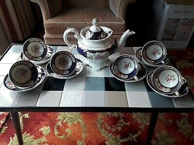 Beautiful 14 Piece Gaudy Welsh Tea Set, Perfect Condition.  • 105£