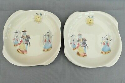 A Pair Of Beswick Happy Morn Tea Plates / Side Plates - 6 Inches • 18£