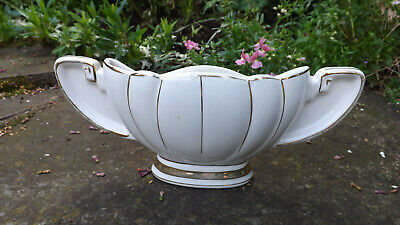 Vintage 40's - 50's Cream & Gold Urn Wall Sconce Pocket Vase • 6.50£