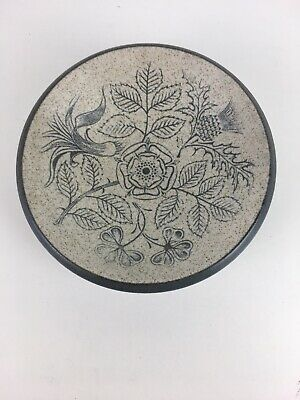 Vintage Purbeck Pottery 60's 70's Small Floral Design Trinket Dish • 9.95£