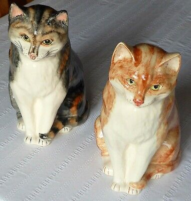 Pair Large BABBACOMBE Cats - Ginger & Tabby • 49.95£