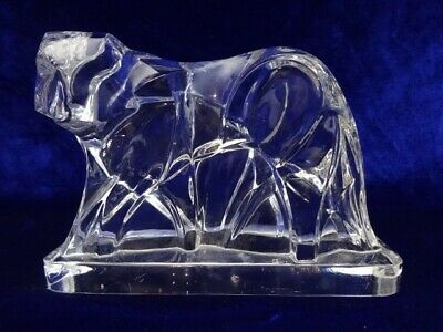 Baccarat Crystal Art Deco Tiger Figurine Designed By Georges Chevalier • 115£