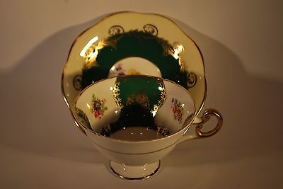 Art Deco Foley Floral Cup And Saucer    #6001 • 19.95£