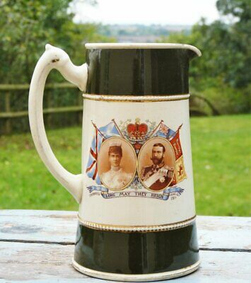 Large Jug George V & Queen Mary Long May They Reign 1911 • 14.99£