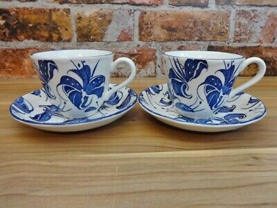 Royal Tudor Orchid Grindley 2x  Cups And Saucers • 19.95£
