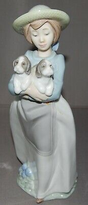 NAO BY LLADRO GIRL WITH PUPPIES FIGURINE AS FOUND (free Postage)  • 9.99£
