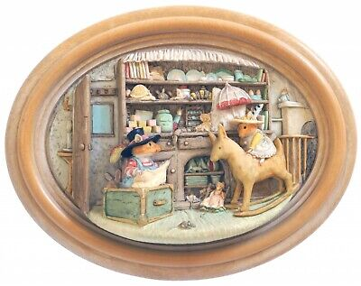 Brambly Hedge The Nursery 3D Plaque - Lakeland Studios - Signed - Boxed • 150£