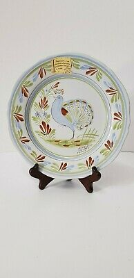 Vintage Henriot Quimper Plate With Bird French With Label  • 24.99£