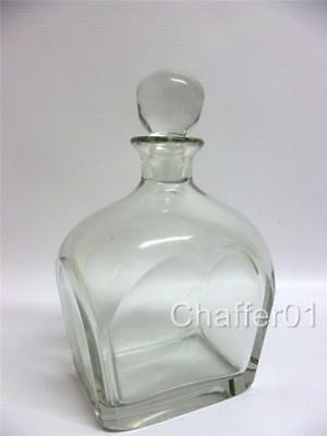 Retro Unmarked Swedish Crystal Glass Flask/Decanter 450ml • 50£