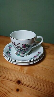 Vintage Lord Nelson Pottery Indian Tree Pattern Cup Saucer Side Plate Trio  • 4.25£