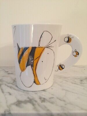 Dunoon Busy Bodies Bee Mug Oval Shaped By Nicola Evans • 17.99£