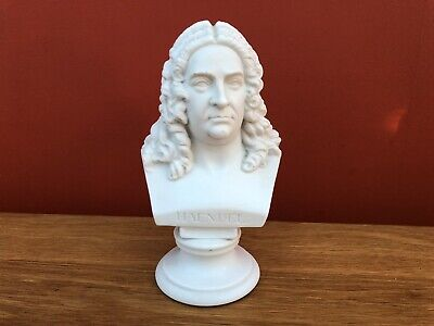 An Unmarked 19th Century Parian Bust Of Composer Haendel, C.1880. 17.5cm • 84.95£