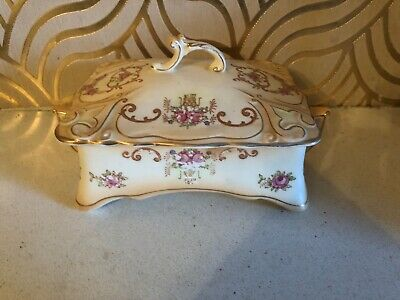 Gorgeous Antique Crown Ducal Verona Blush Ware Lidded Box • 24.99£