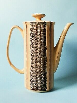 Vintage British Price Kensington Phoenician Wood Ribbed Pottery Coffee Pot • 9.99£