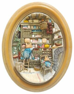 Brambly Hedge Store Stump 3D Plaque - Lakeland Studios - Signed - Boxed • 175£