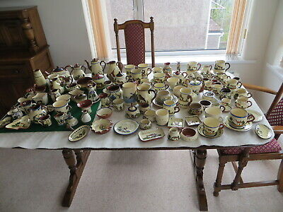 Devon Mottoware Pottery - Over 100 Pieces • 399£