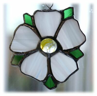 Yorkshire Rose Stained Glass Suncatcher | Window Decoration | Gift • 15.50£