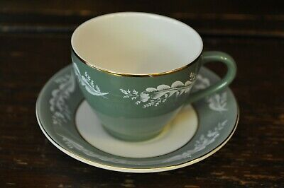 Lord Nelson Pottery Gorgeous Green Coffee Cup And Saucer Duo • 9£