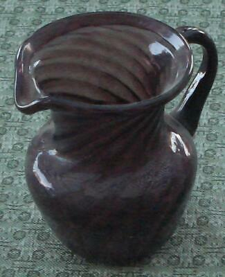 Miniature Amethyst Stretch Glass Individual Cream Pitcher, GREAT COLOR, VGC • 11.88£